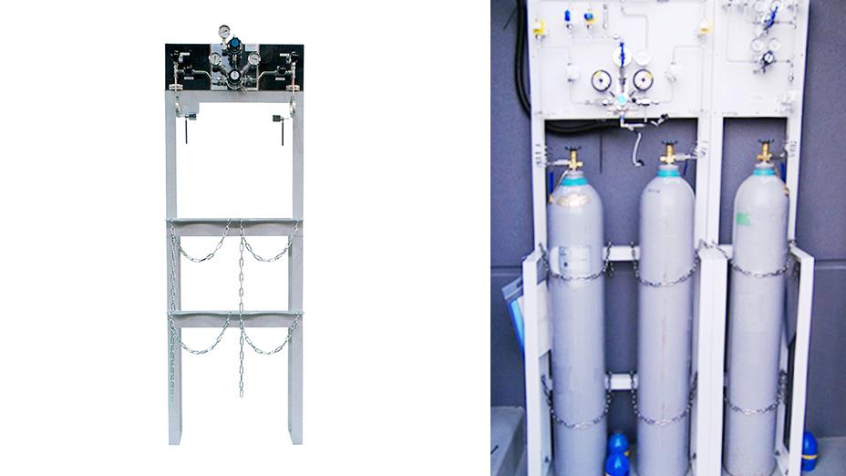 半自動切替式ガス供給装置