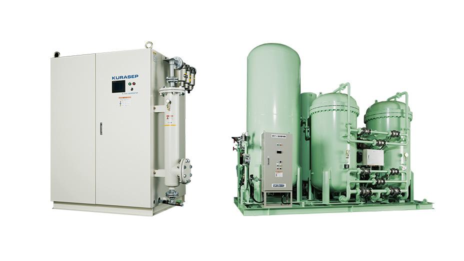 ガス発生装置(窒素、酸素、水素、炭酸)