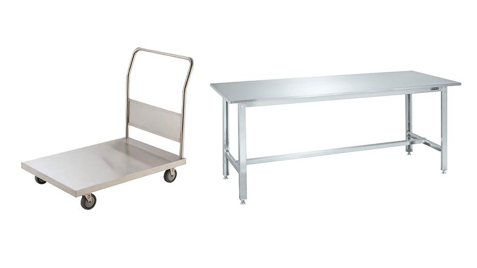 ステンレス製品(台車、棚、作業台など)